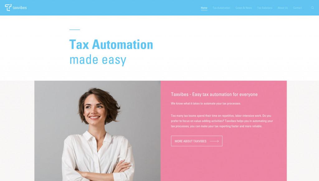 Taxvibes website homepage
